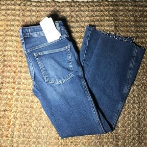 free people dark denim boot cut size 24 jeans